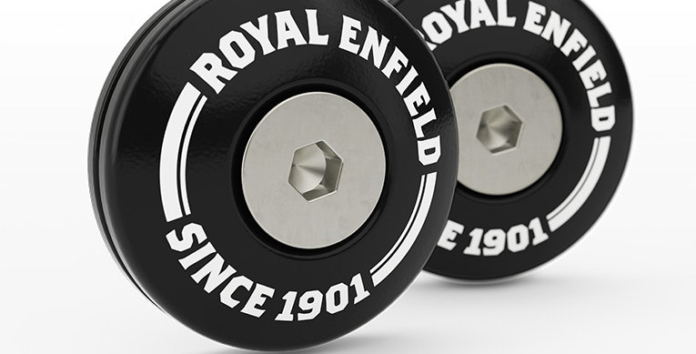 Royal Enfield - Lenkerendenabdeckung - Schwarz