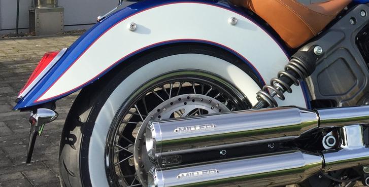 Miller Slip-On Auspuff Yuma II Euro4 - Scout / Bobber - Poliert/Poliert/Standard