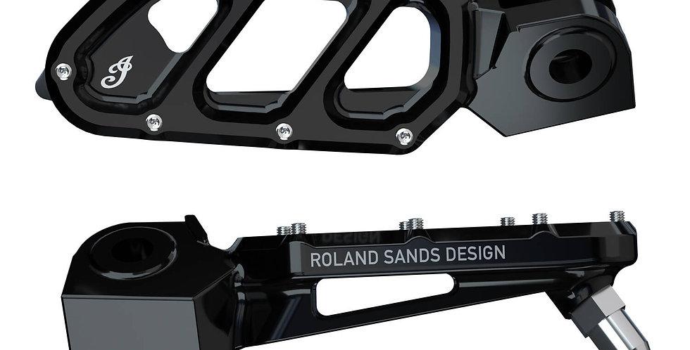 Tracker-Fußrasten by Roland Sands Design® - schwarz - FTR 1200