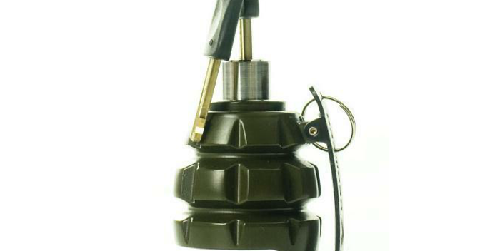 AGM Bremsscheiben-Alarmschloss Handgranate, Military green