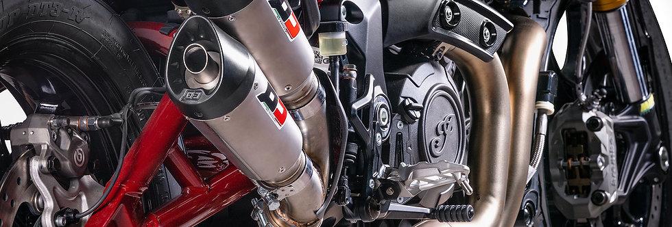 QD COMPOSIT - Twin Titanium Slip-On GunShot Auspuff - FTR1200