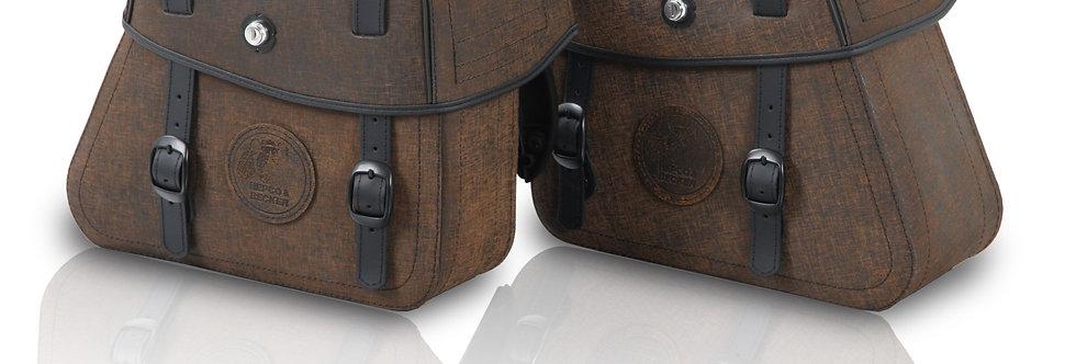 Ledertaschensatz Rugged 24ltr. für C-Bow-Halter - braun
