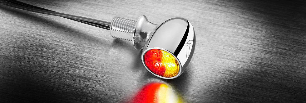 Kellermann - Atto® DF LED-Blinker/Rücklicht-Kombi - chrom - Universa