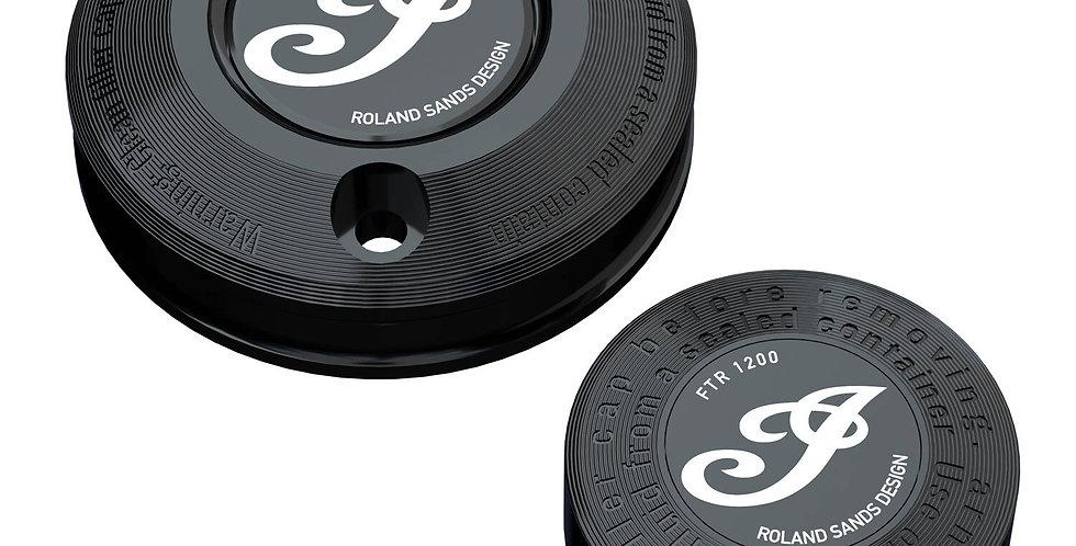 Cover Bremsflüssigkeitsbehälter by Roland Sands Design® - schwarz - FTR 1200