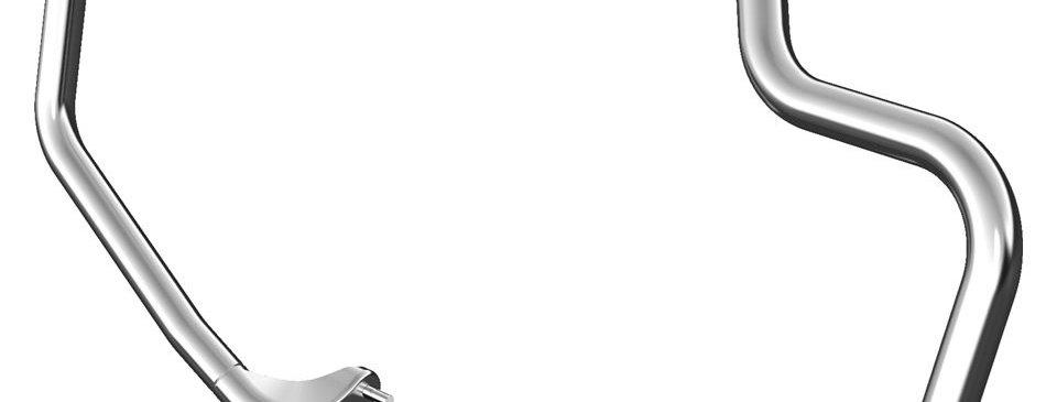 Mustache-Sturzbügel - Chrom