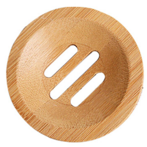 Round Bamboo Soap Plate