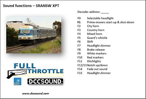 SRANSW XPT Full Throttle sound project