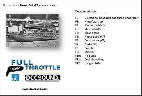 VR A2 class (steam) Full Throttle sound project