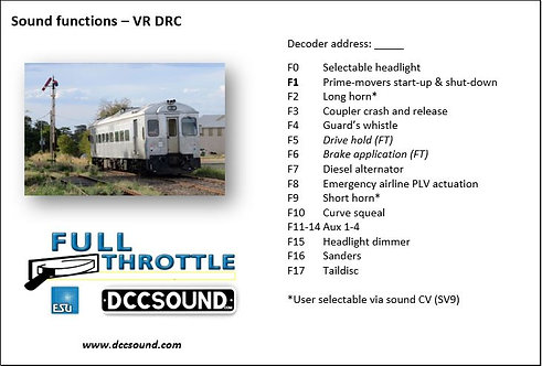 VR DRC Full Throttle sound project