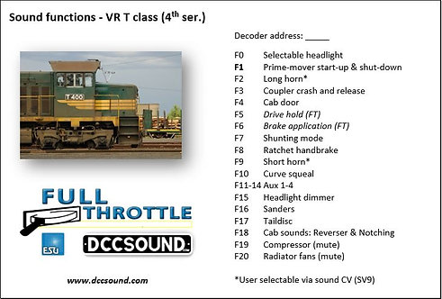VR T class - 4th series (D/E) Full Throttle sound project