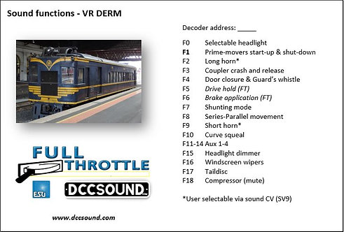 VR DERM (D/E) Full Throttle sound project