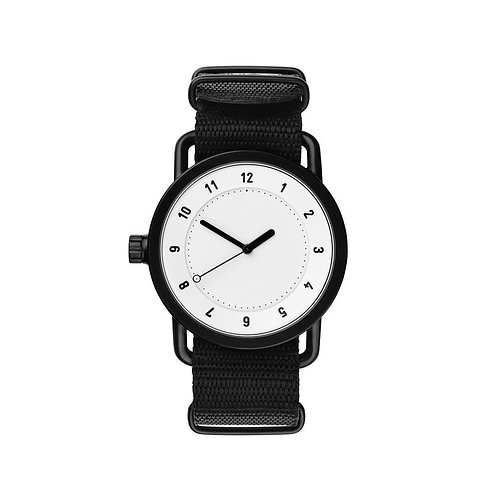 Cotton Belt With White Dial Mens Hand Watch White Dial With Cotton Belt Mens Wat