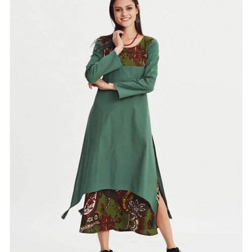 Women's Designer Cotton Tail Cut Kurti