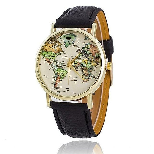 Glowing Thirise Colour World Map Dial Watches