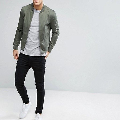 Cool Men's Bomber Jacket Stylish Outfit