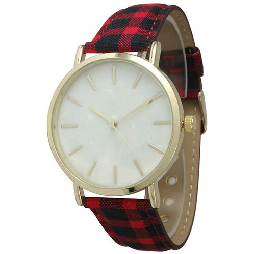 Classic Round Dial Cotton Belt Women's Watches