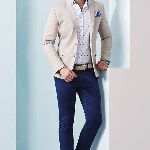 Cream Sport Coat With Navy Chinos Trendy Dress Code