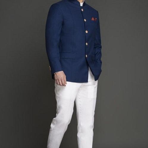 Turkish Blue Jodhpuri Suit For Men's