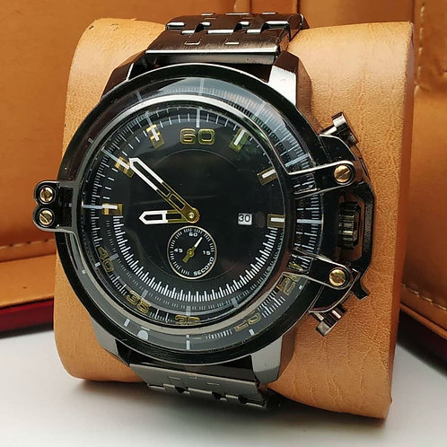 Casual Watch Men Leather Strap Analog Sports Military Wrist Watch