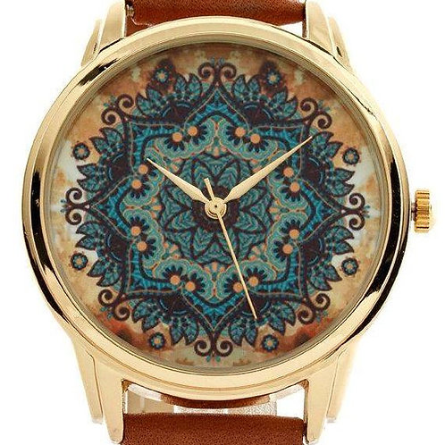 Designer Dial Leather Watch