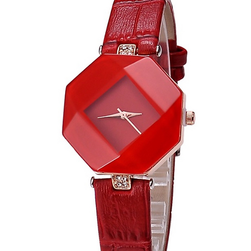 Colourful Crystal Design Watch For Women