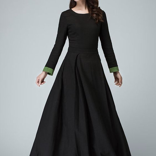 Black Long Sleeve Prom Dress