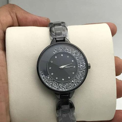 Silver Diamond Watch For Women