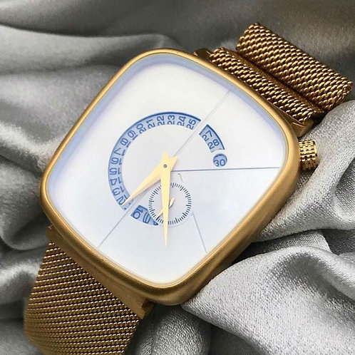 Masterpiece Golden Stainless Steel Analog Men's Watch In Two Different Dial