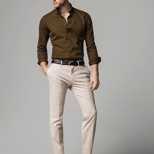 Bronze Color Stylish Shirt With Cream Colour Pant