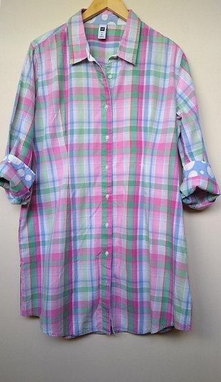 Maxi camisa xadrez GAP - GG