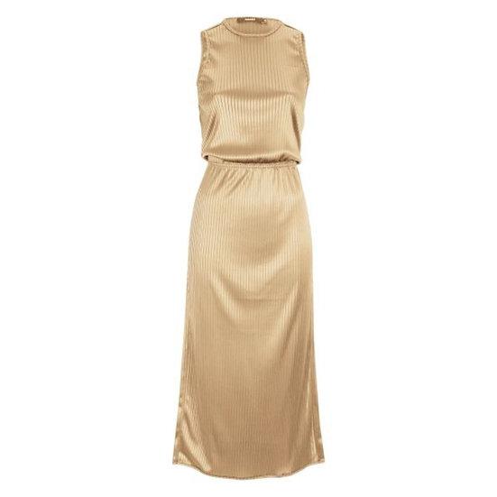 Vestido reto canelado Amaro - 40
