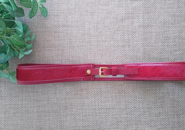 Cinto de pelinhos vermelho Osklen - 90