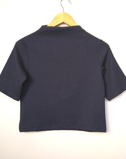 Blusa cropped gola alta Shoulder - PP P