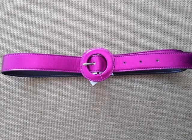Cinto pink metalizado