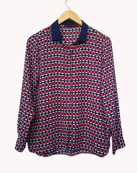Camisa estampa geométrica Zara - M G