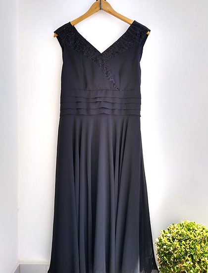 Vestido preto de festa longuete Cloé - 44 42