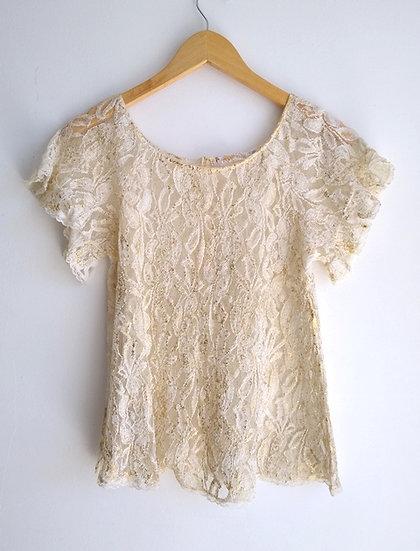 Blusa de renda pintada Murau - P