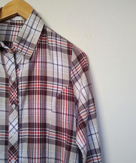 Camisa de flanela xadrez Canal - M