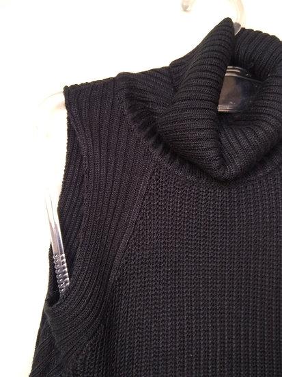Blusa de tricô de gola alta Shoulder - P