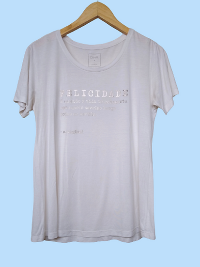 Camiseta Felicidade Canal - M