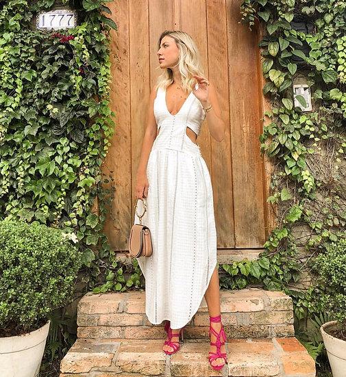 Vestido branco vazado byNV - M