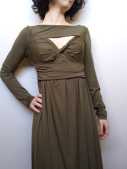 Vestido decote torcido Alcaçuz - PP