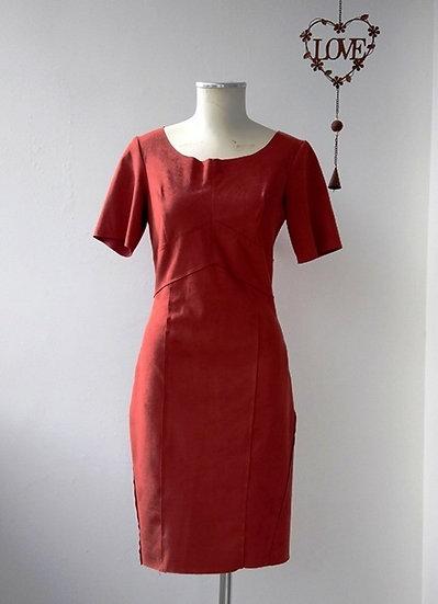 Vestido tubinho de suede Iódice - 36