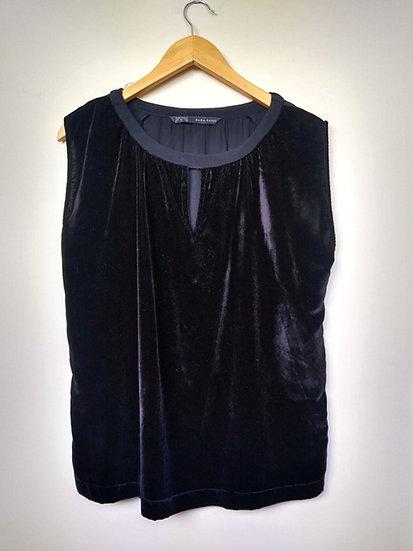 Blusa de veludo preto Zara - P M