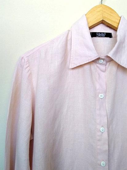 Camisa de linho rosinha - M G