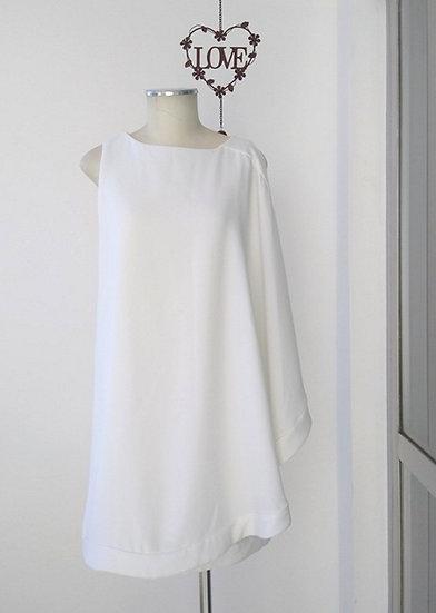 Vestido com sobreposição Mixed - 34 36