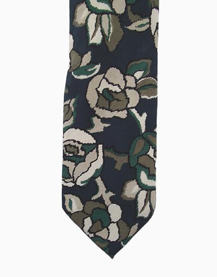 Gravata de seda pura floral Armani