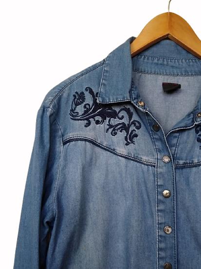Camisa jeans bordada Sacada - 40 42