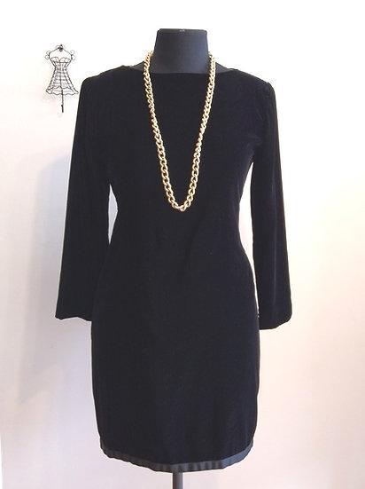 Vestido de veludo vintage - M