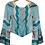 Thumbnail: Blusa mangas flare em seda estampada - PP